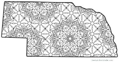 nebraska map outline printable state shape stencil