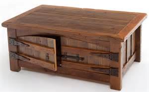Wood Plank Coffee Table Barnwood Coffee Table Aged Wood Made In America