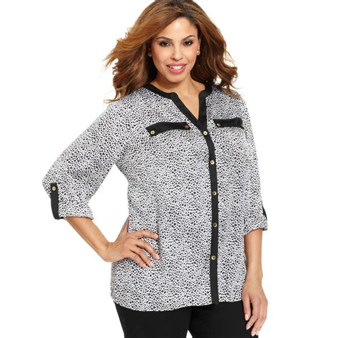 Topshop In New York Plus Size Store To Soon Follow by Jones New York Plus Size Blouses Chevron Blouse