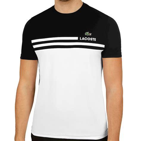 T Shirt Lacoste It 0 2 lacoste t shirt black white buy tennis point