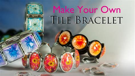 how to make your own for jewelry make your own tile bracelet glass tile bracelet jewelry