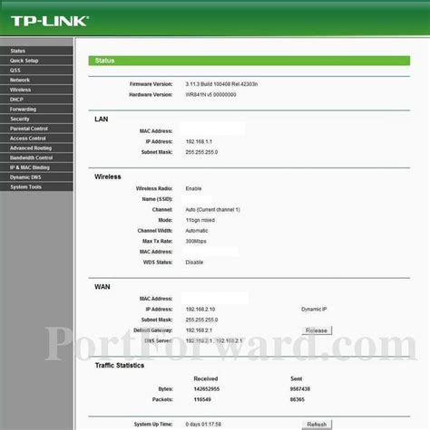 auto port forwarding program tp link tl wr841n status router screenshot portforward