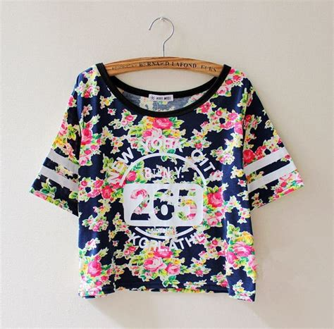 Bl7750 Flower Vintage Shirt 14 new fashion summer tshirt cotton sleeve vintage flower print t shirt number