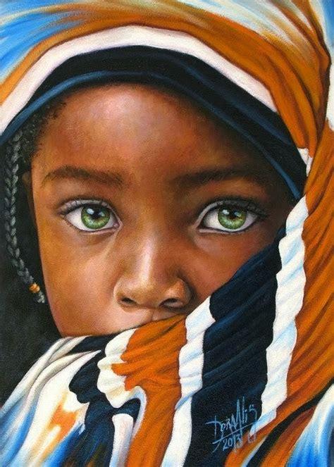 pinturas al oleo de rostros 20 beautiful african children paintings by dora alis