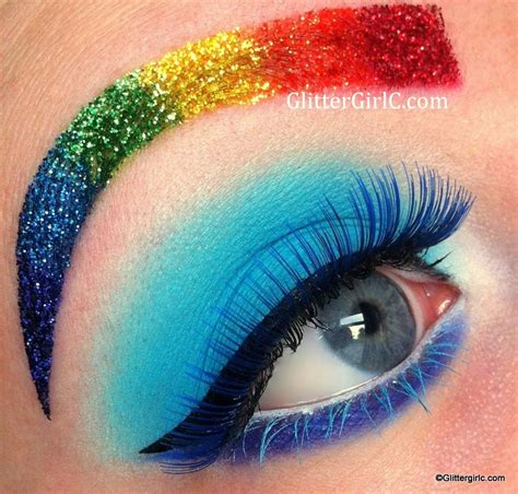Eyeshadow Viva Seri D rainbow dash makeup look glittergirlc