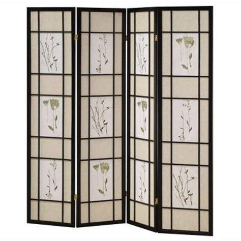 Home Decorators Collection 4 Panel Shoji Screen Room Home Depot Room Dividers