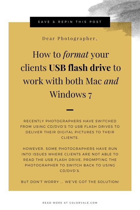 format flash drive for both mac and pc format usb flash drives to work with both mac and windows