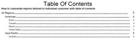 Contents Book Report by Cognos How How To Customize Reports Tailored To