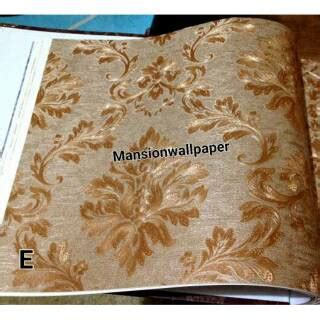 wallpaper dinding kekinian wallpaper dinding luxury klasik coklat gold shopee indonesia