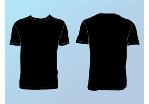 Vector Tshirt Template basic t shirt template free vector stock