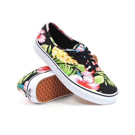 hawaiian shoes new vans hawaiian floral black pink shoes sneakers
