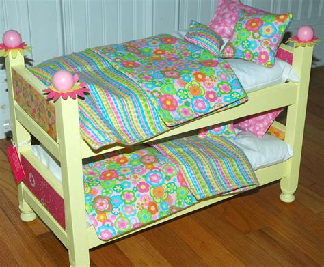 american girl doll bed sunny yellow doll bunk bed fits