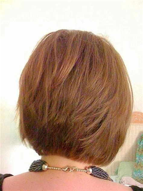 layered bob hairstyle back view layered bob with tapered back for thin hair short