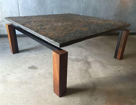 slate wood coffee table slate weng 233 wood black metal square coffee table