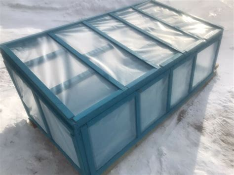 mini green house cold frame plants fertilizer soil
