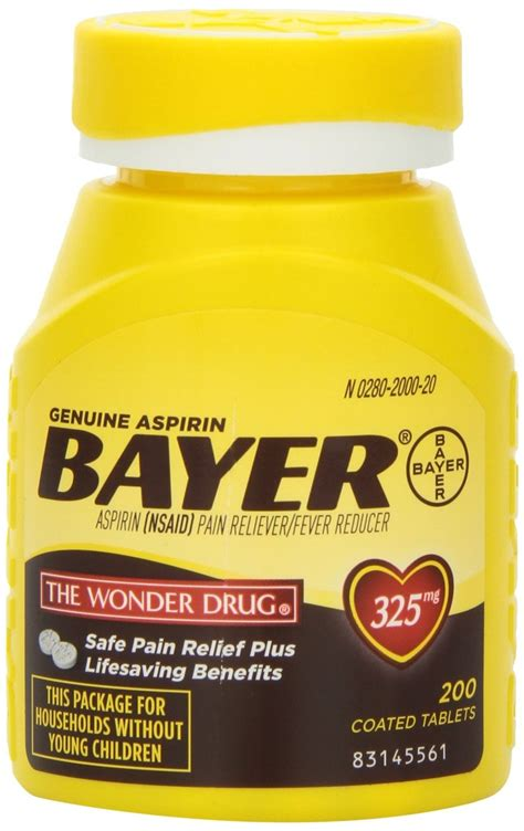 aspirin dosage bayer aspirin genuine 325 mg coated tablets 200 tablets rite aid