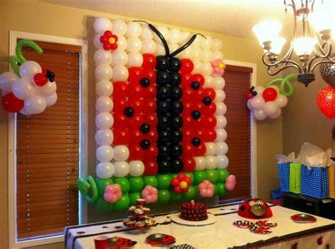 ladybug balloon decor ideas for baby s birthday
