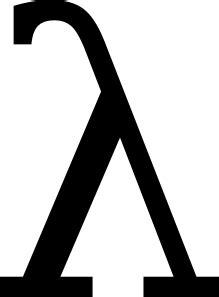 Greek Letter Lambda clip art Free Vector / 4Vector
