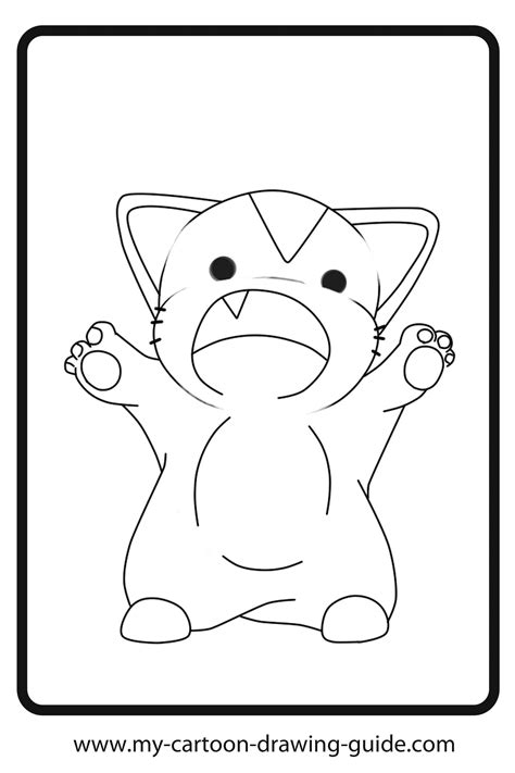 Anime Cat Girl Coloring Pages Coloring Home Anime Cat Coloring Page
