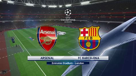 arsenal vs barcelona pes 16 arsenal vs barcelona 2 1 1 16 uefa chions