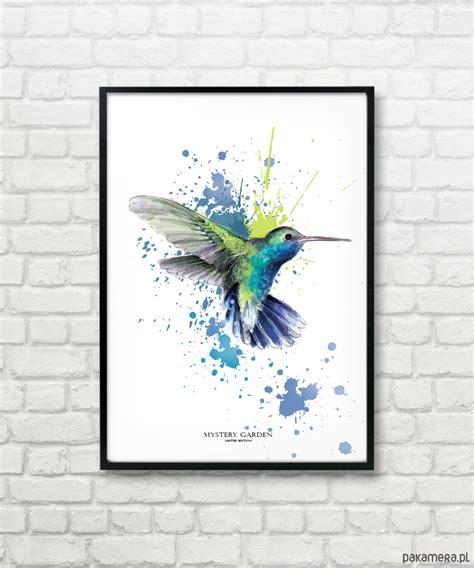 Plakat Grafika by Grafika Mystery Garden Wings Of Creativity Dodatki