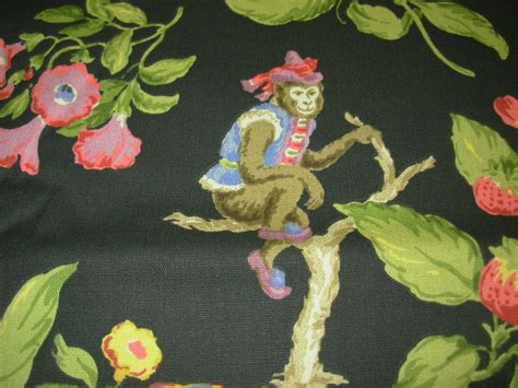 monkey upholstery fabric by the yard p kaufmann quot cheeky monkey quot ebony cotton
