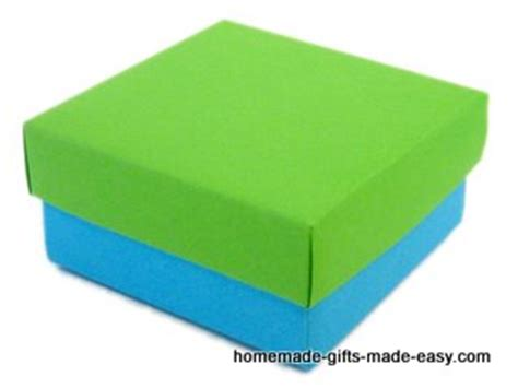 How To Make A Box Lid Out Of Paper - make your own gift box with lid tutorial picture