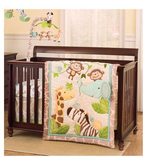 Jungle Crib Sheets s jungle play 4 crib bedding set