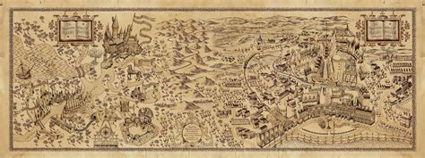 a map of the the searchers books inside hogwarts castle map search harry potter