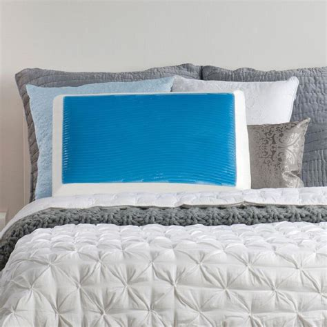 standard bed pillows sealy memory foam and hydraluxe gel standard bed pillow