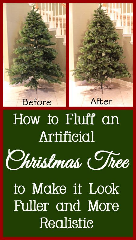 how to fluff an artificial christmas tree into the correct