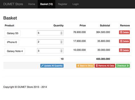 membuat online shop php membuat shopping cart di laravel 4