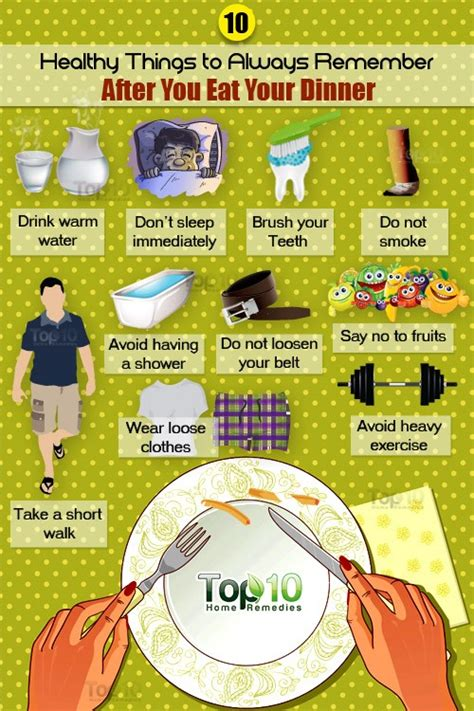 Things To Do For Healthy by 10 Healthy Things To Remember Before And After You Eat