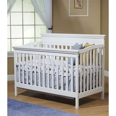 Mini Cribs Sorelle Katherine 4 1 W Mini Rail White Crib Ebay