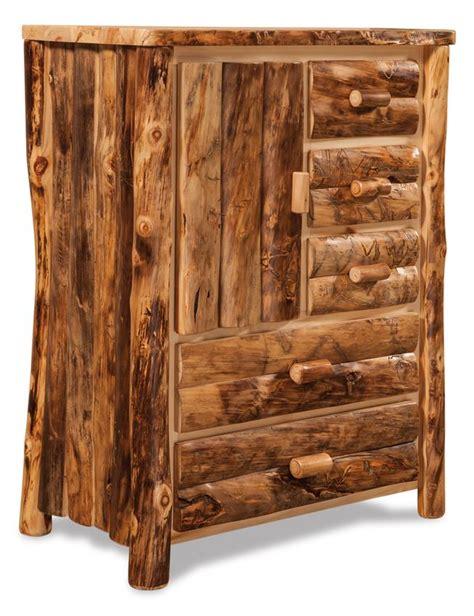 Rustic Log Furniture by Amish Log Furniture Rustic Aspen Armoire