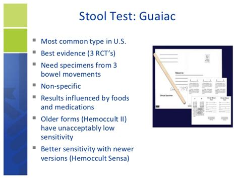 Fit Test Results Stool by Colorectal Cancer Putting Prevention Into Practice