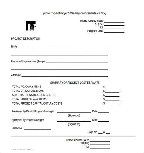 work estimate template word sle work 5 documents in pdf word