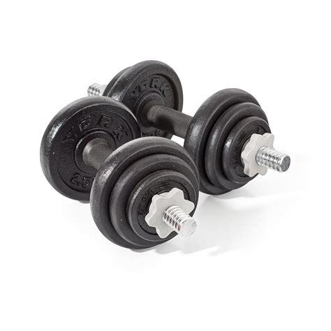 Dumbbell Set 20 Kg york fitness cast iron dumbbell set 20kg ebay
