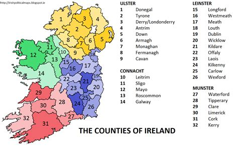 ireland county map political maps july 2012