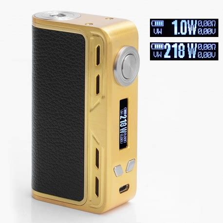 Smoant Charon Tc 218w Gold authentic smoant charon 218w tc vw gold variable wattage box mod