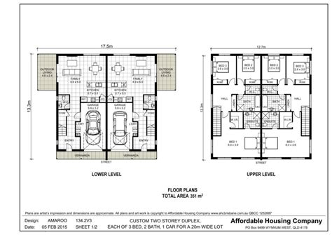 duplex plans 28 3 story duplex floor plans one story duplex