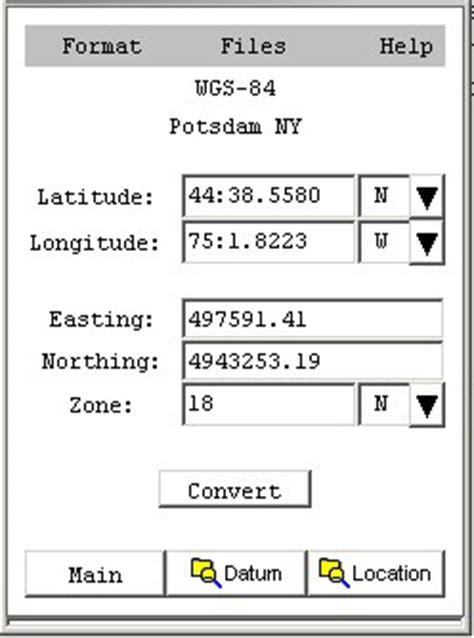 latitude format converter convert utm to latitude and longitude