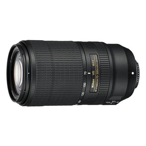 Af Nikkor 70 300mm F 4 5 6g nikon af p nikkor 70 300mm f 4 5 5 6e ed vr lens 20068 b h