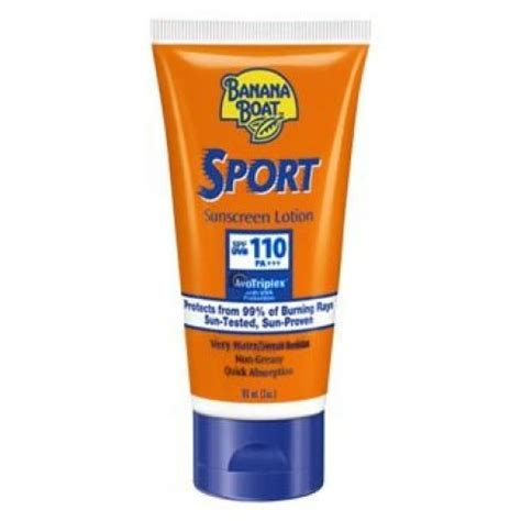 banana boat sunscreen lotion spf 110 banana boat sport sunscreen lotion spf110 pa banana