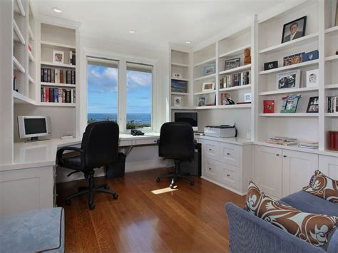 home to office contemporary home office with crown molding built in