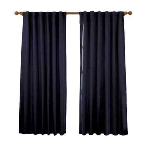 dark blue curtain panels eclipse fresno blackout dark blue curtain panel 84 in