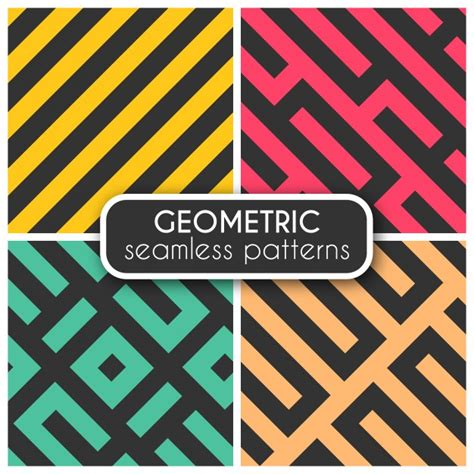 geometric seamless patterns pack vector premium download coloured geometric seamless patterns vector free download