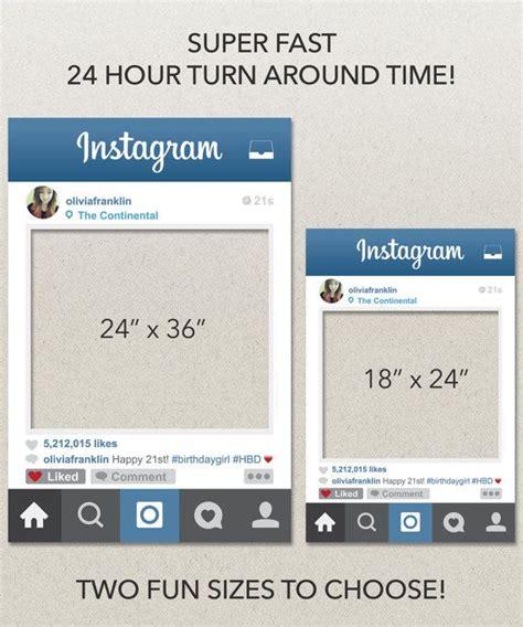 instagram photo booth layout social media photo prop digital file printable pdf