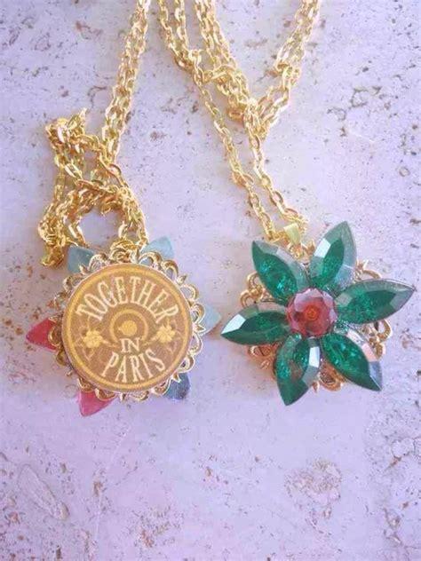 Anastasia Charm Necklace Together In Paris Replica Flower Emerald Romanov Replica Handmade