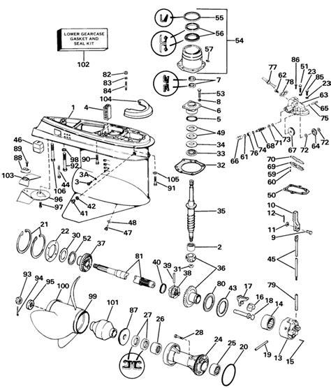 omc stringer parts diagram 85 omc 3 8 stringer 800 gearcase dissasembly